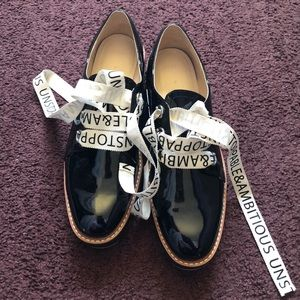 """Zara Black """"Unstoppable & Ambitious"""" shoes"""